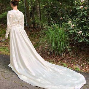 40's Satin Wedding Dress